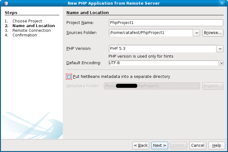 remote connection netbeans linux